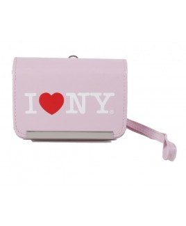 I Love NY DCS86 Compact PU Leather Digital Camera Case Pink