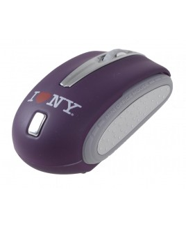 I Love NY WM402 Traveling Notebook Mouse - Purple