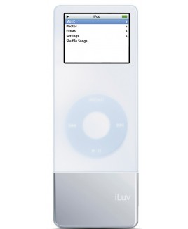 i-Luv Silicone Case and Battery for iPod Nano, White