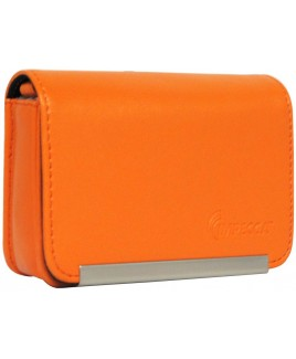 IMPECCA DCS86 Compact Leather Digital Camera Case - Orange