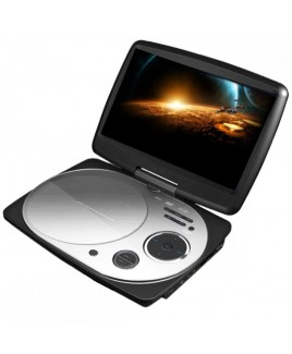 IMPECCA 9 Inch Swivel Portable DVD Player, White