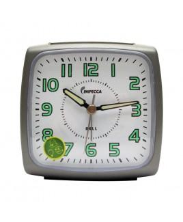 IMPECCA Bell Alarm Clock, Metallic Grey