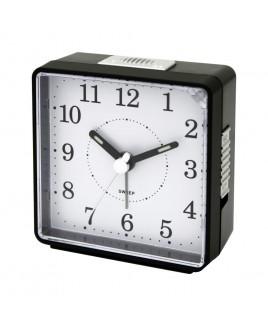 IMPECCA Travel Alarm Clock, Sweep Movement, Black