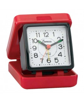 IMPECCA Travel Beep Alarm Clock, Red/Black