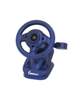 IMPECCA WC100 Steering Wheel Webcam with Built-in Mic Blue