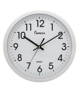 IMPECCA 12 Inch Quiet Movement Wall Clock - White