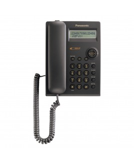 Panasonic 1-Line Corded Caller ID Integrated Telephone System, Black