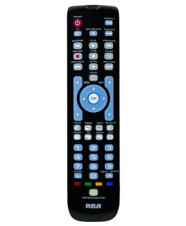 RCA RCRN04GR 4-Device Universal Remote with Green Backlit Keypad