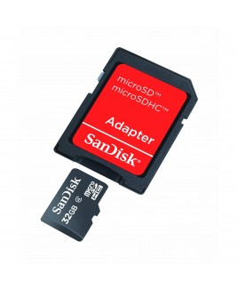 SanDisk microSDHC 32GB Memory Card Class 4 With SD Adapter