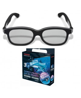 Toshiba Black Natural Passive 3D Glasses Party Pack (10 Pair)
