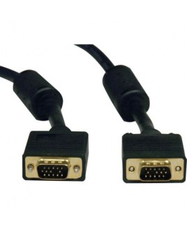 Tripplite P502-025 25-ft. SVGA/VGA Monitor Gold Cable with RGB Coax (HD15 M/M)
