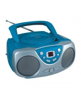 Sylvania Portable AM/FM CD Boombox with AUX Line-in, Blue