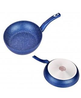 Kung Fu 10 inch 4mm Edge Heavy Duty Aluminum Fry Pan, Blue