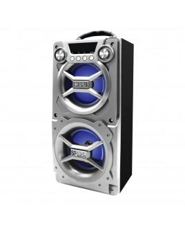 Sylvania Portable Bluetooth Speaker, Silver