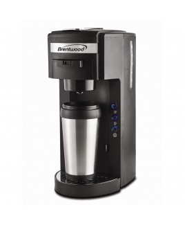 Brentwood Single Serve Coffee Maker K Cup and Soft Pod Compatible