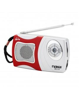 Naxa AM/FM Mini Pocket Radio with Built-in Speaker, Red
