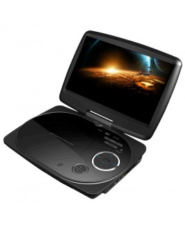 IMPECCA 9 Inch Swivel Portable DVD Player, Black
