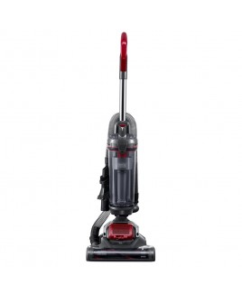 Black & Decker AIRSWIVEL Ultra Lightweight Upright Vacuum Cleaner - Versatile, Titanium / Monza Red