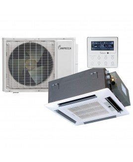 IMPECCA 22,800 BTU Fixed Series Cassette Indoor Unit and 33,600 BTU Outdoor Split Unit