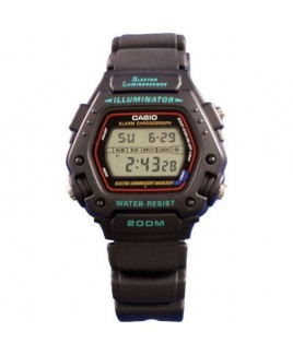 Casio DW290-1V Classic Digital Watch 200M WR Backlight w/Afterglow and Alarm
