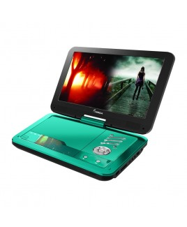 IMPECCA Portable DVD Player with 10.1 inch Swivel Screen - Teal