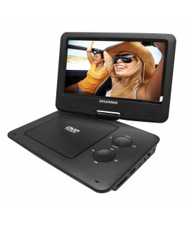 Sylvania Portable DVD Player with 9 Inch Widescreen Swivel Display, Black
