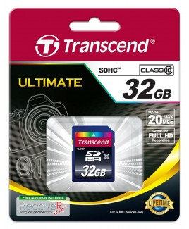Transcend SDHC Card 32GB <em>Class 10</em> 133x Great for FullHD Recording