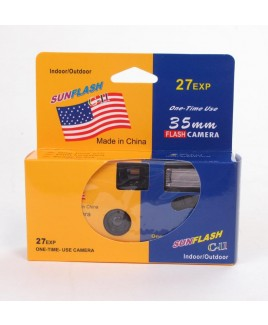 High Quality SunFlash Indoor/Outdoor One-Time Use 35mm Flash Camera 27-Exposures