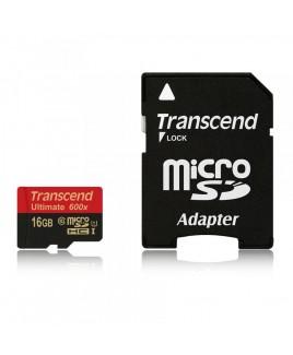 Transcend microSDHC 16GB Class 10 UHS-I 600x (Ultimate)