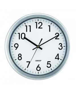 IMPECCA 12 Inch Quiet Movement Wall Clock - Silver