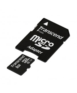Transcend microSDHC 8GB Ultimate Class 10 UHS-I Memory Card with SD Adapter