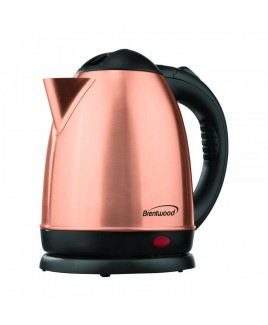 Brentwood 1.5 Liter Rose Gold Electric Stainless Steel Kettle