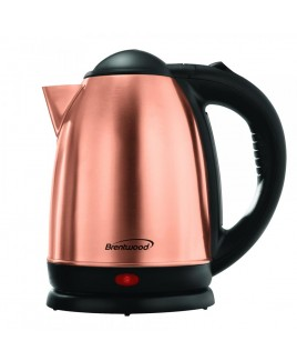 Brentwood 1.7 Liter Rose Gold Electric Stainless Steel Kettle