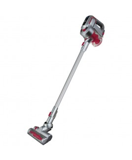 Kalorik 2-in-1 Cordless Cyclonic Vacuum Cleaner, Red/Silver