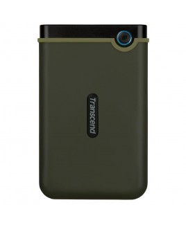 Transcend StoreJet 1TB Rugged USB 3.0 External Portable Hard Drive, Military Green