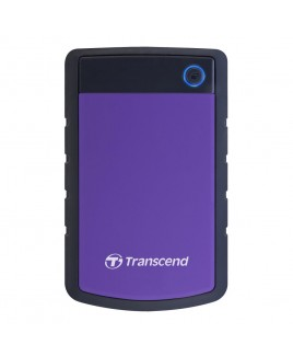 Transcend StoreJet 3TB Rugged USB 3.0 External Portable Hard Drive, Purple