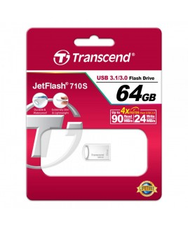 Transcend 64GB JetFlash 710 FlashDrive, Silver