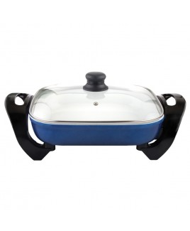 Cookinex 12 Inch Electric Skillet, Blue