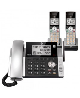 AT&T 2-Handset Corded/Cordless Answering System with Dual Caller ID/Call Waiting