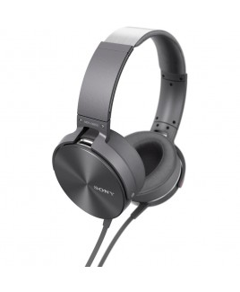 Sony Extra Bass Headphones with Smartphone In-Line Remote, Gray