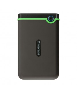 Transcend StoreJet 500MB Rugged USB 3.0 External Portable Hard Drive, Military Green