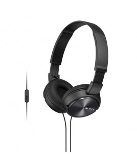 Sony MDR-ZX310AP/W Lightweight, Folding Stereo Headset (Black)