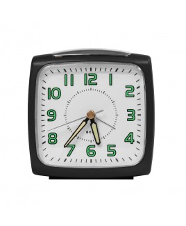 IMPECCA Bell Alarm Clock, Metallic Black