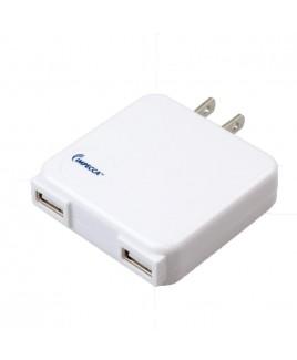 IMPECCA USB210 10-Watt Dual USB Power Adapter - White