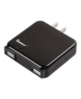 IMPECCA USB210 10-Watt Dual USB Power Adapter - Black