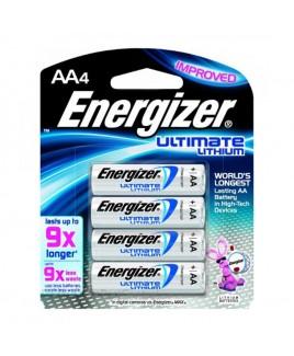 Energizer EL91-BP4 AA-4 Lithium Batteries