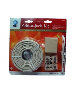 AT&T Add-A-Jack Kit with 50ft. Telephone Wire and Jack