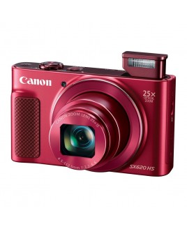 Canon PowerShot SX620 HS 20.2 Megapixel Digital Camera, 25x Optical Zoom, Wi-Fi, NFC, 1080p Full HD Video, 3-inch LCD - Red