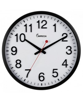 IMPECCA 18-inch Wall Clock - Black Frame