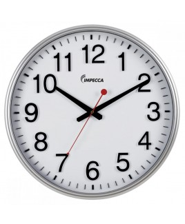 IMPECCA 18-inch Wall Clock - Silver Frame